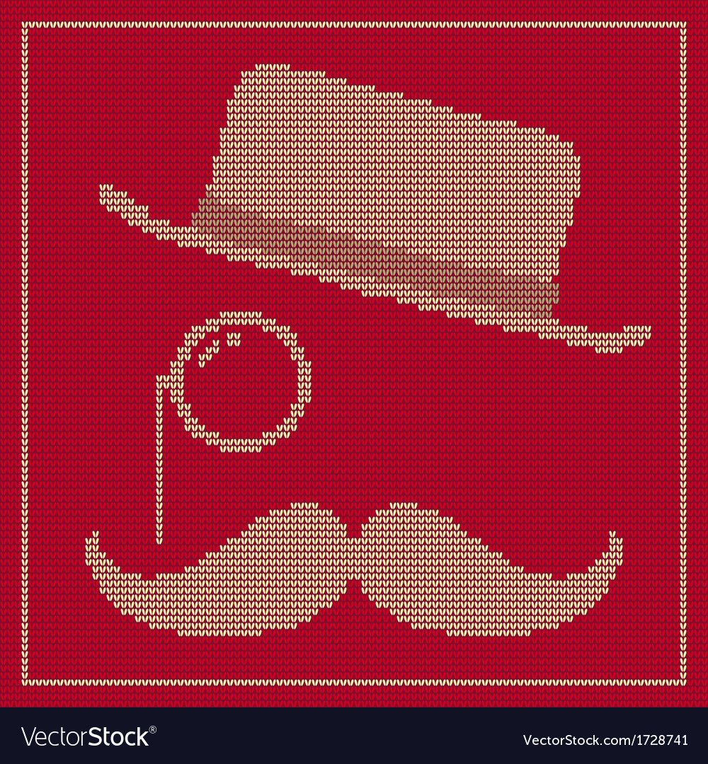 Hipster trend vintage hat monocle and moustache vector | Price: 1 Credit (USD $1)