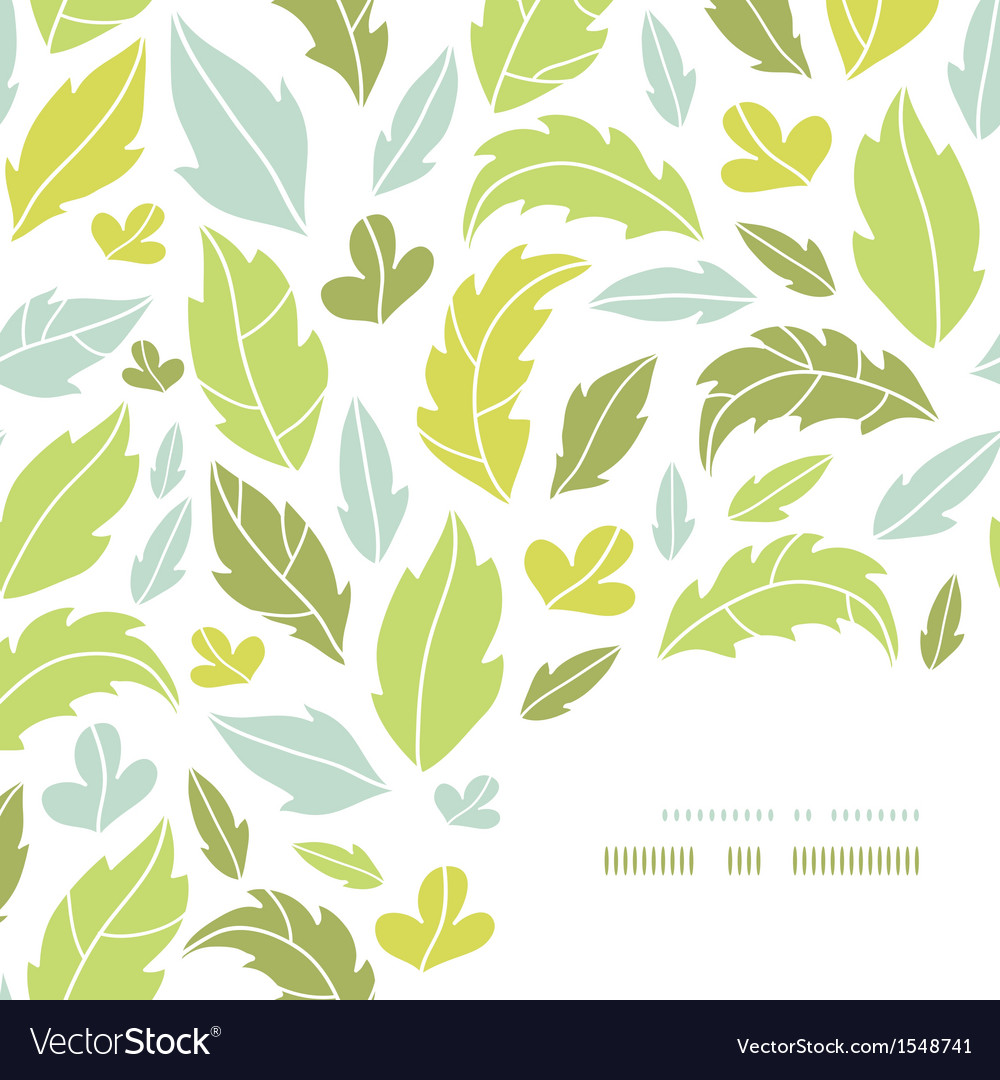 Leaves silhouettes corner decor pattern background vector | Price: 1 Credit (USD $1)