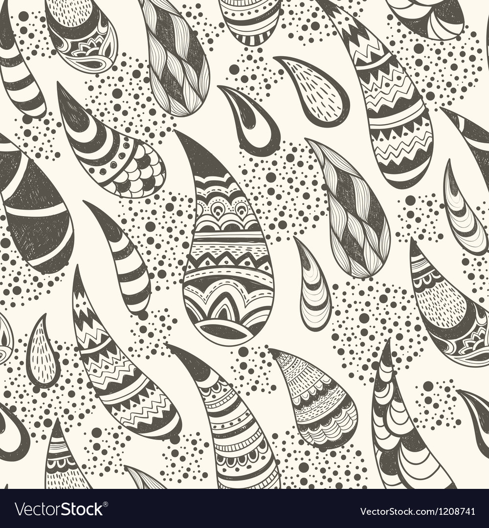 Seamless paisley pattern vector | Price: 3 Credit (USD $3)
