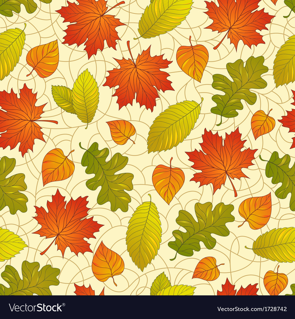 Autumn leaves pattern vector | Price: 1 Credit (USD $1)