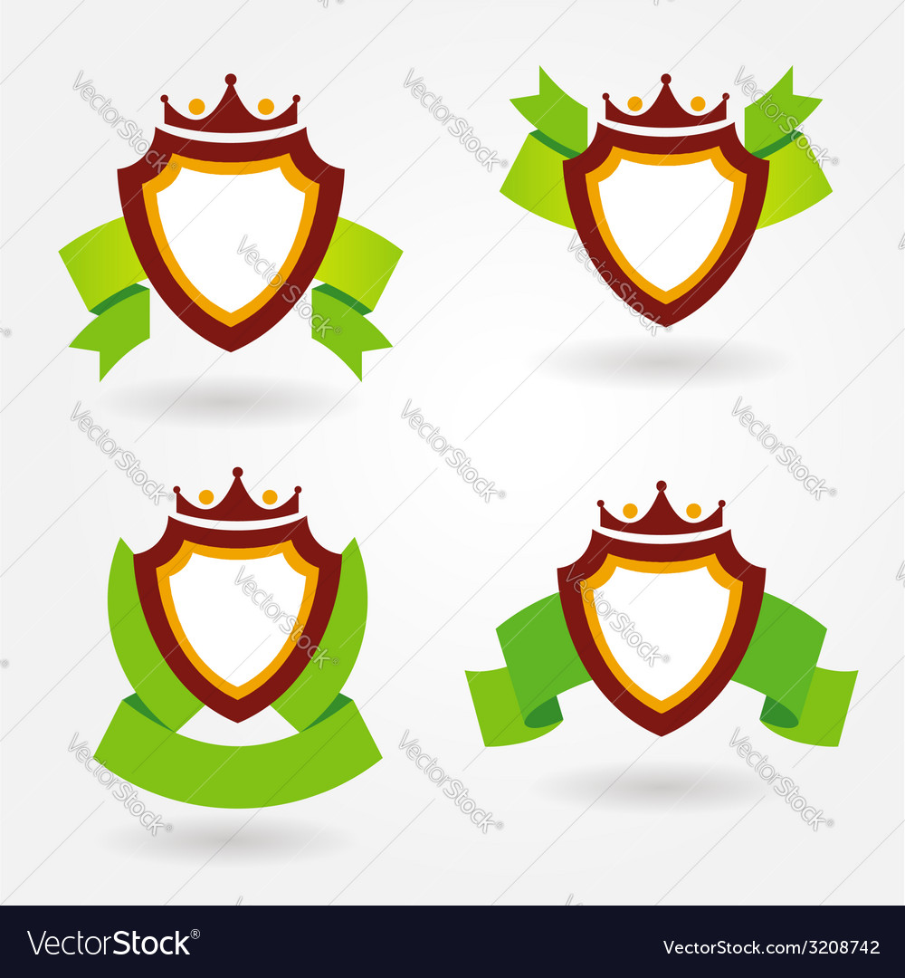 Blazon design set vector | Price: 1 Credit (USD $1)
