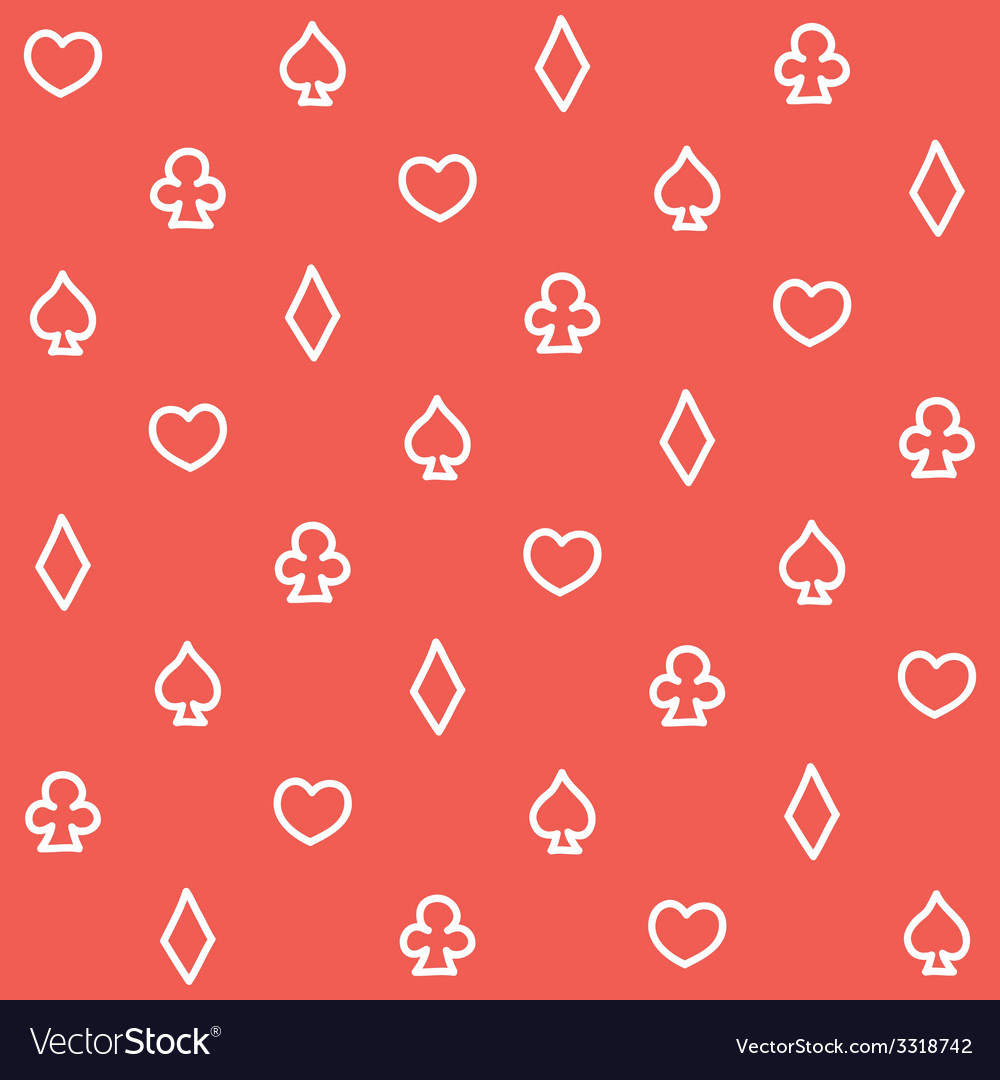 Casino pattern red vector | Price: 1 Credit (USD $1)