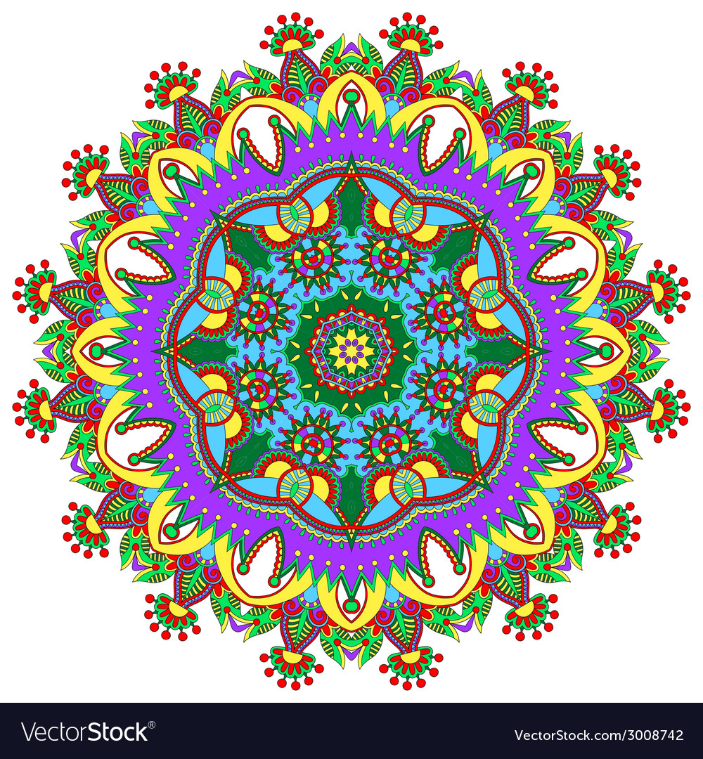 Circle lace ornament round ornamental geometric vector | Price: 1 Credit (USD $1)