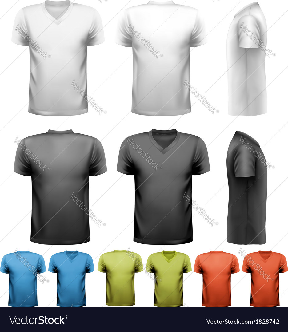 Colorful male t-shirts design template vector | Price: 1 Credit (USD $1)