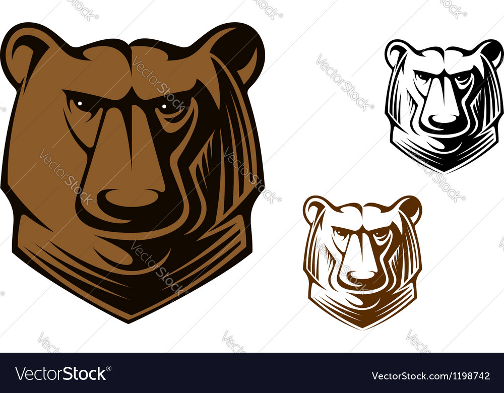 Kodiak bear mascot vector | Price: 1 Credit (USD $1)