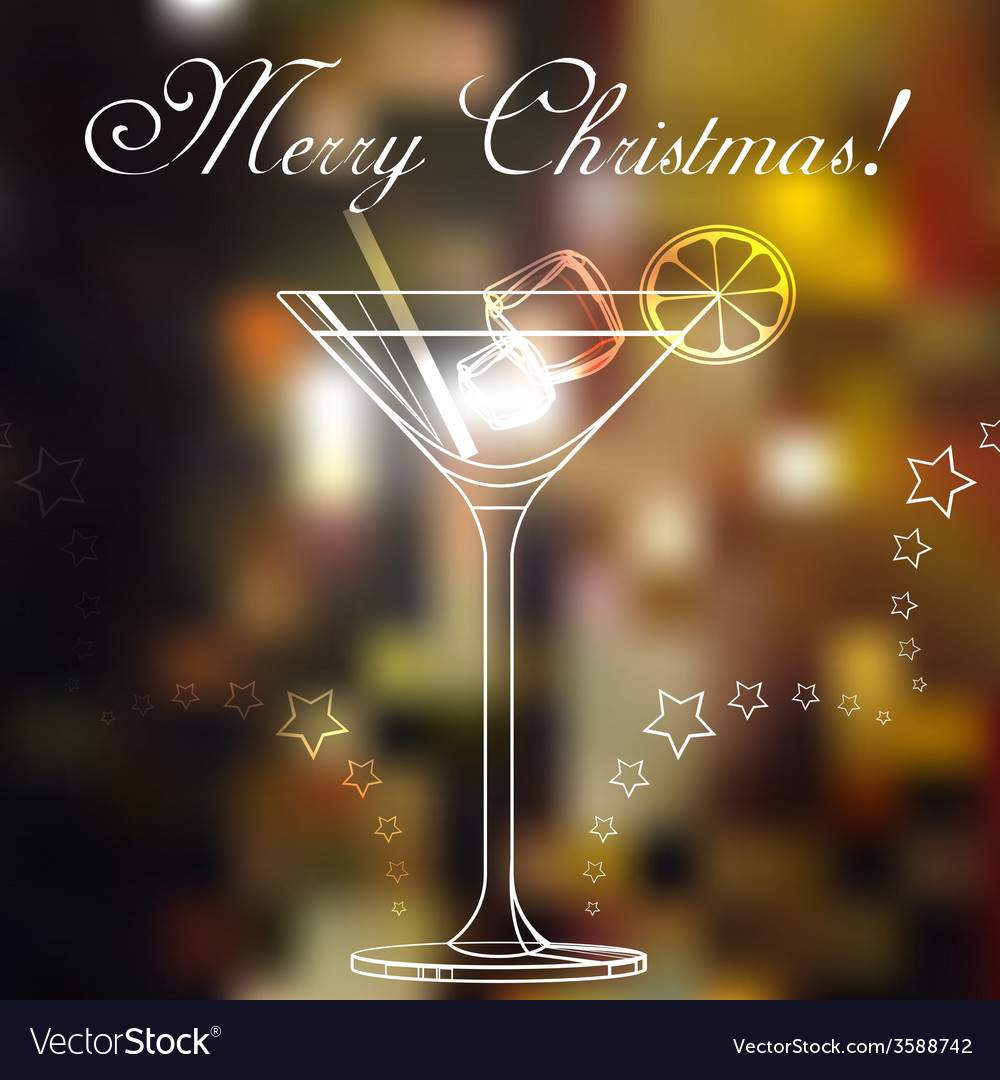 Merry christmas coctail on a background vector | Price: 1 Credit (USD $1)