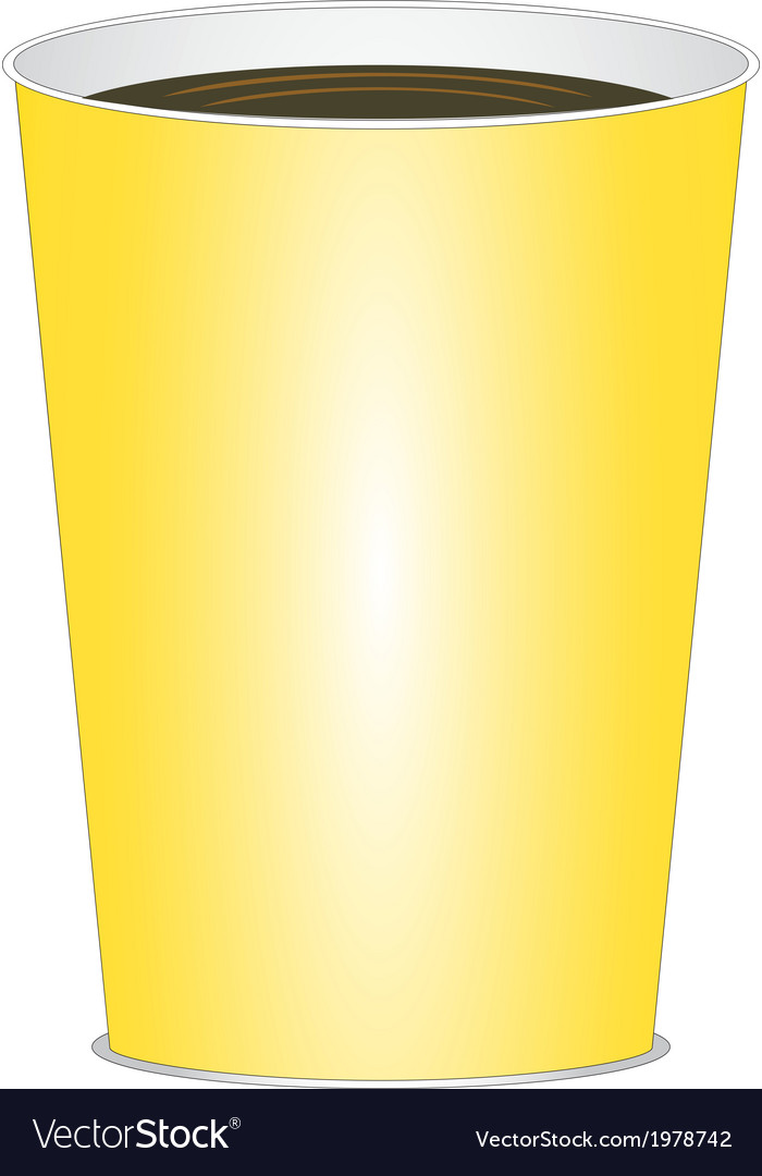 Yellow glass of drink vector | Price: 1 Credit (USD $1)
