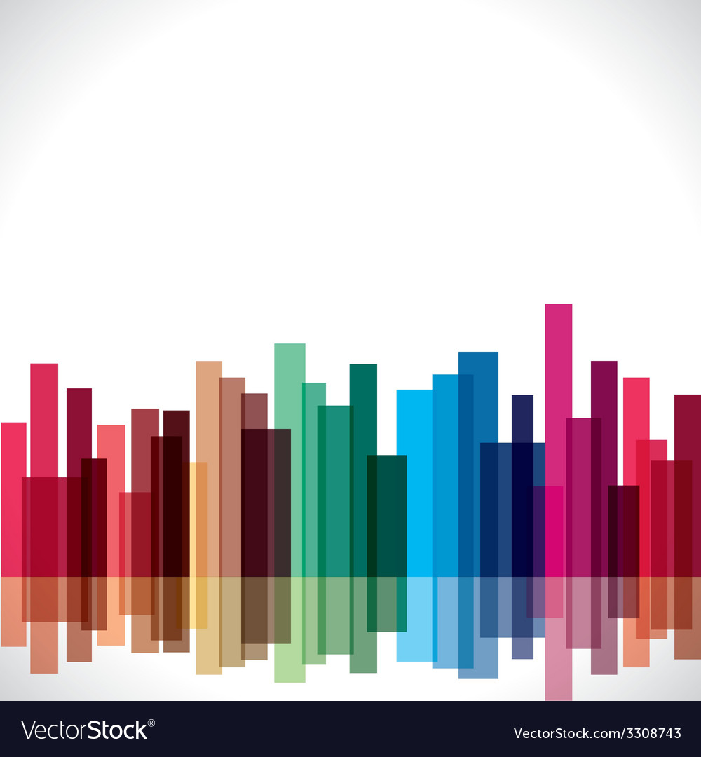 Abstract colorful city stock vector | Price: 1 Credit (USD $1)