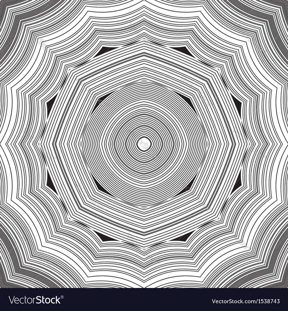 Black and white abstract psychedelic background vector | Price: 1 Credit (USD $1)