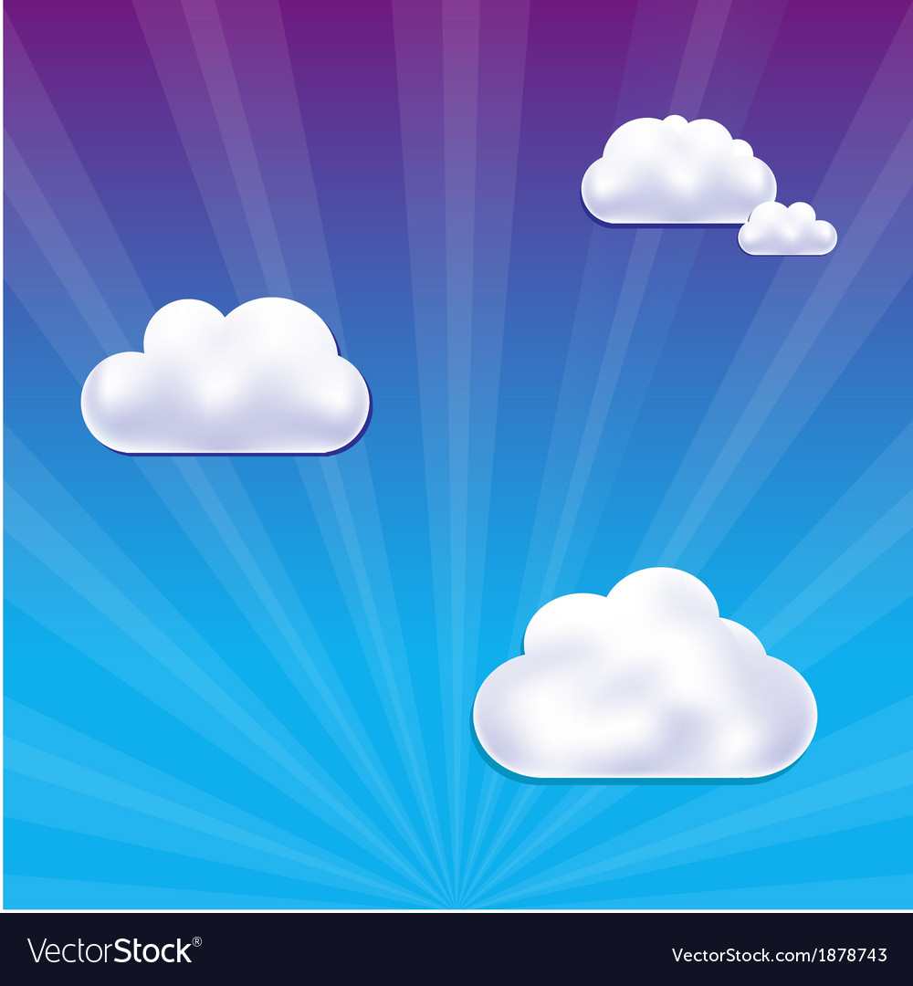 Cloud and sky vector | Price: 1 Credit (USD $1)