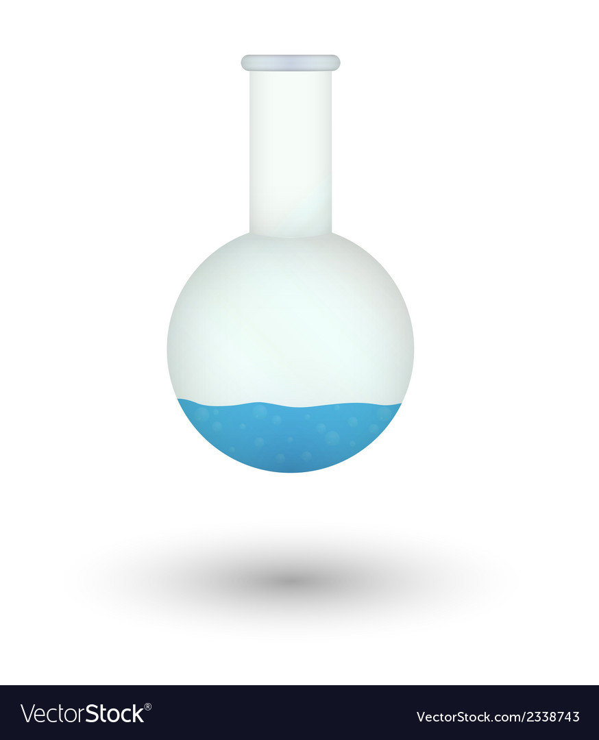 Flask with blue fluid vector | Price: 1 Credit (USD $1)