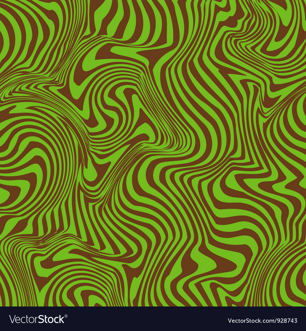 Groovy warped retro stripes vector