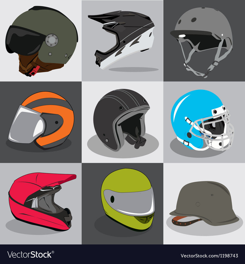 Helmet collection vector | Price: 1 Credit (USD $1)