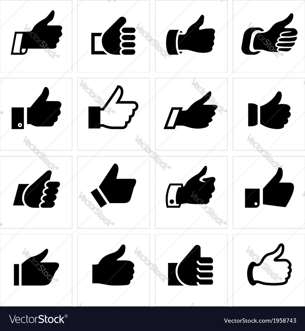 Like set icons vector | Price: 1 Credit (USD $1)