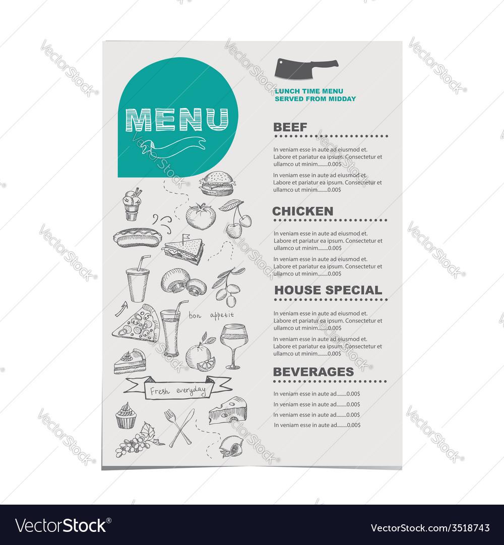 Menu template vector | Price: 1 Credit (USD $1)