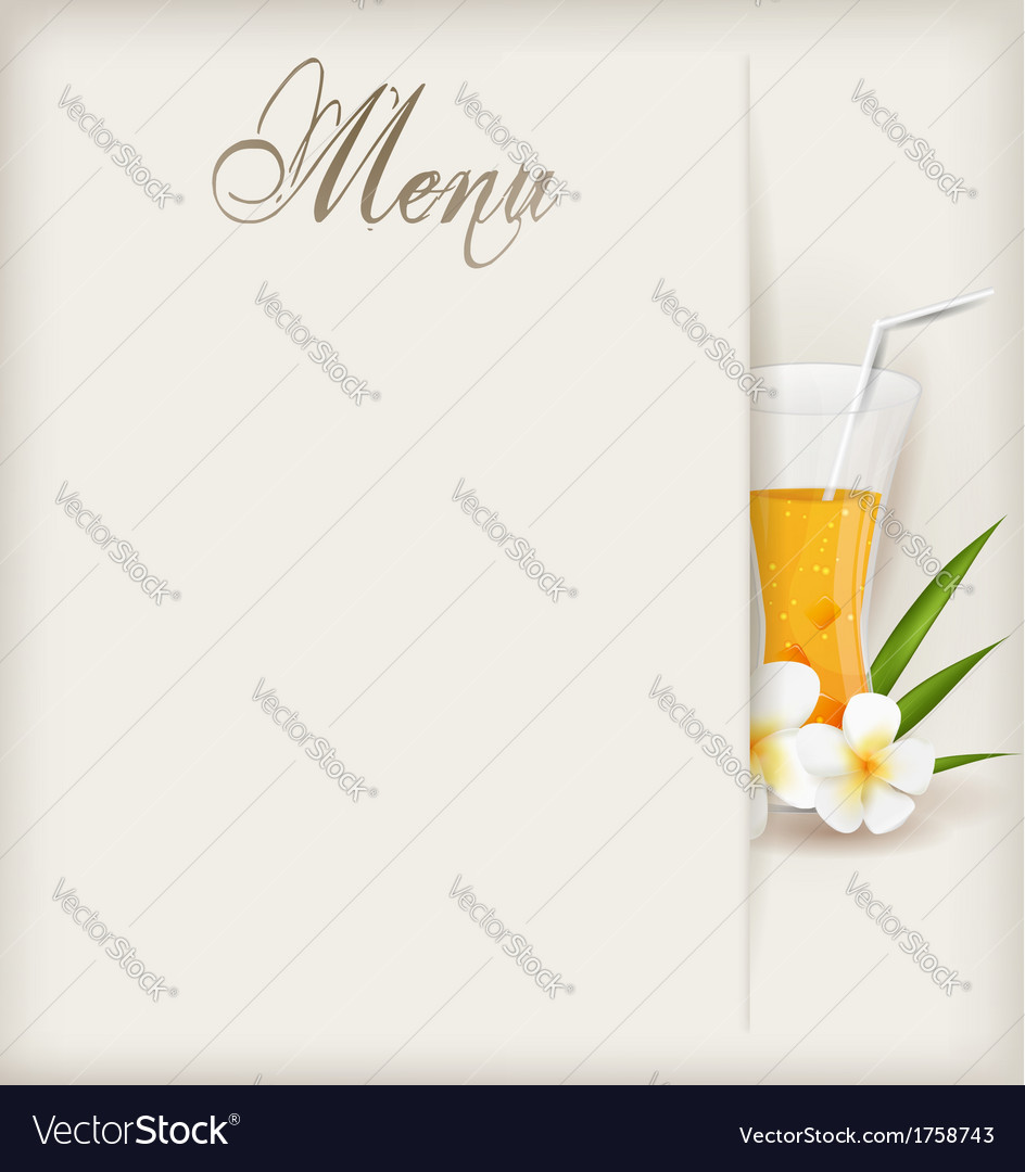 Menu with juice vector | Price: 1 Credit (USD $1)