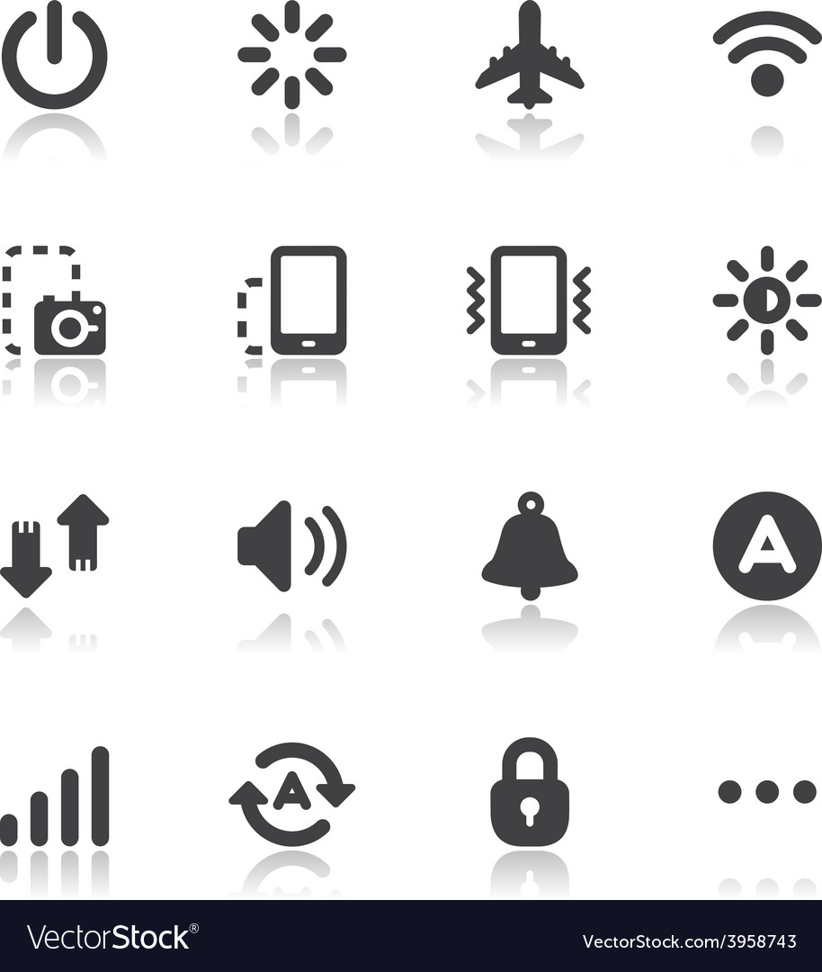 Mobile phone icons for application vector | Price: 1 Credit (USD $1)