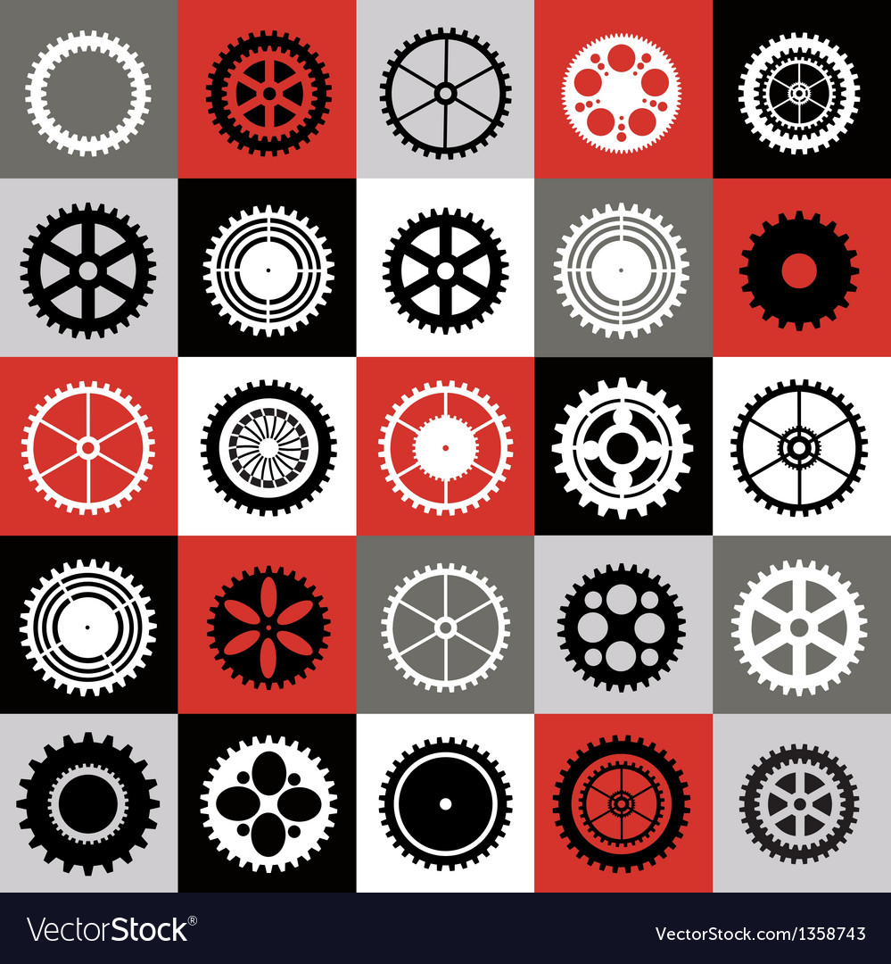 Mosaic of gear vector | Price: 1 Credit (USD $1)