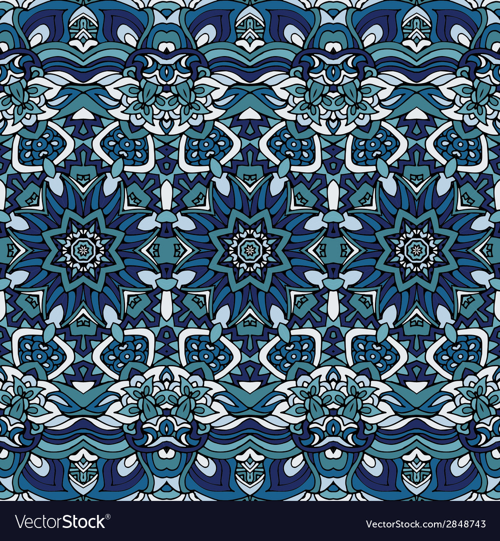 Seamless blue christmas winter gift wrap pattern vector | Price: 1 Credit (USD $1)