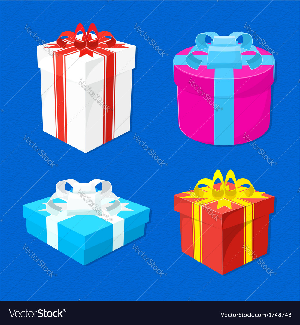 Set-of-gift-boxes vector | Price: 1 Credit (USD $1)