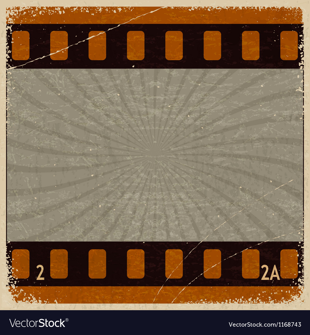 Vintage background with the image frame movie vector | Price: 1 Credit (USD $1)