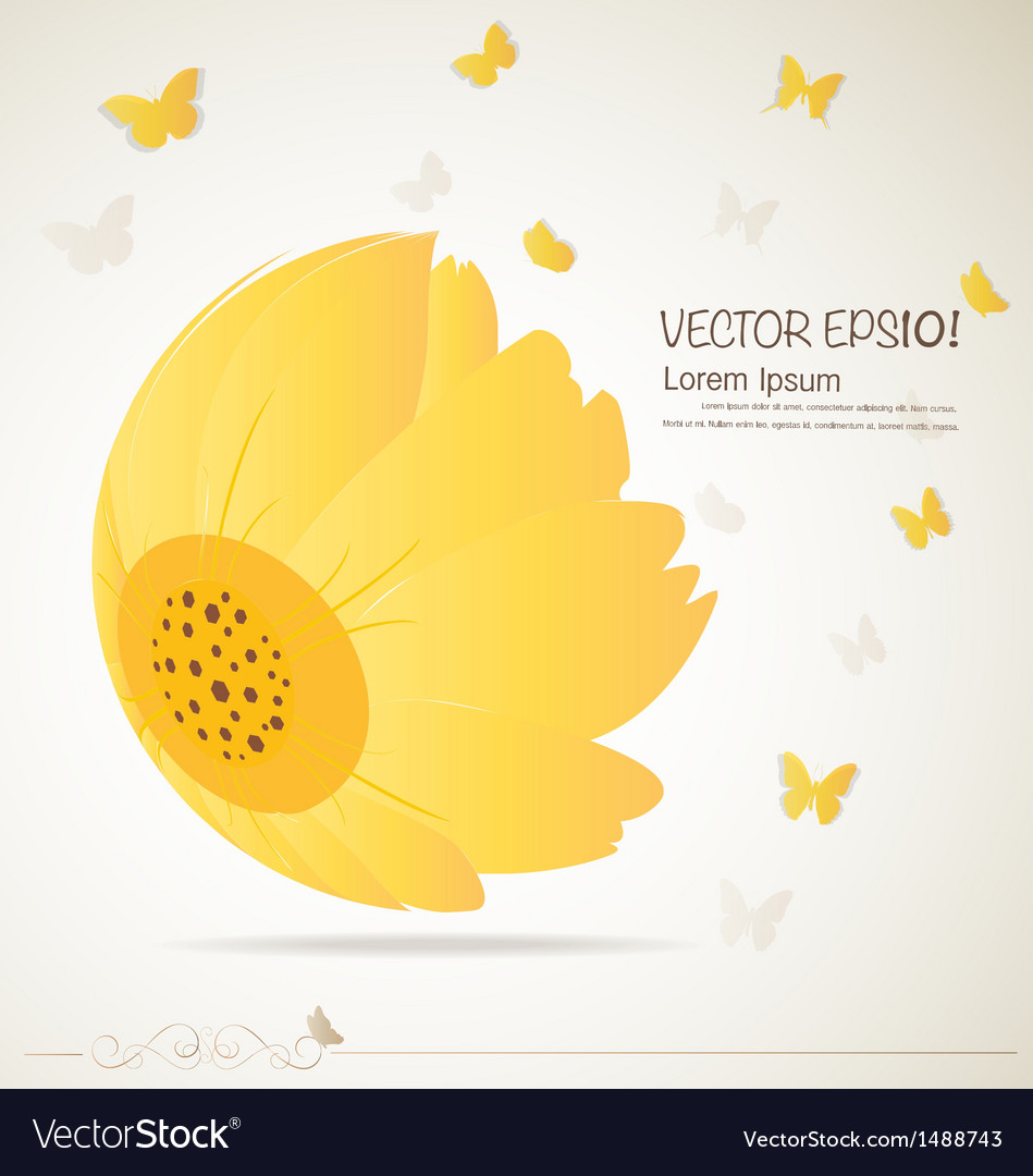 Vintage floral background - daisies vector | Price: 1 Credit (USD $1)