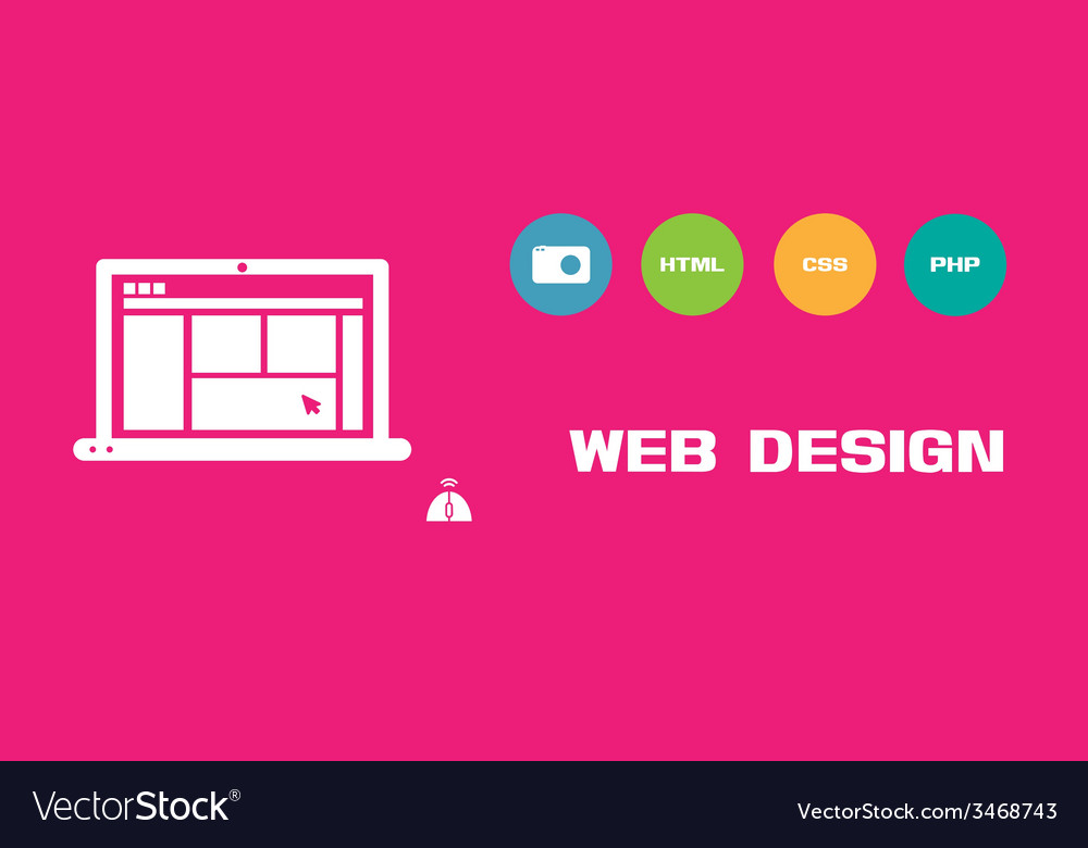 Web design social network background vector | Price: 1 Credit (USD $1)