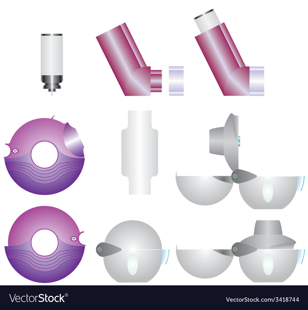 Asthma inhalers vector | Price: 1 Credit (USD $1)