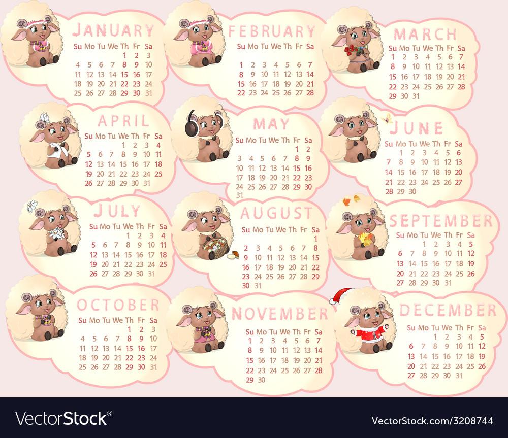 Beautiful calendar vector   Price: 1 Credit (USD $1)
