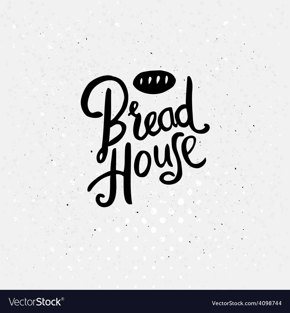 Black text design for bread house concept vector | Price: 1 Credit (USD $1)