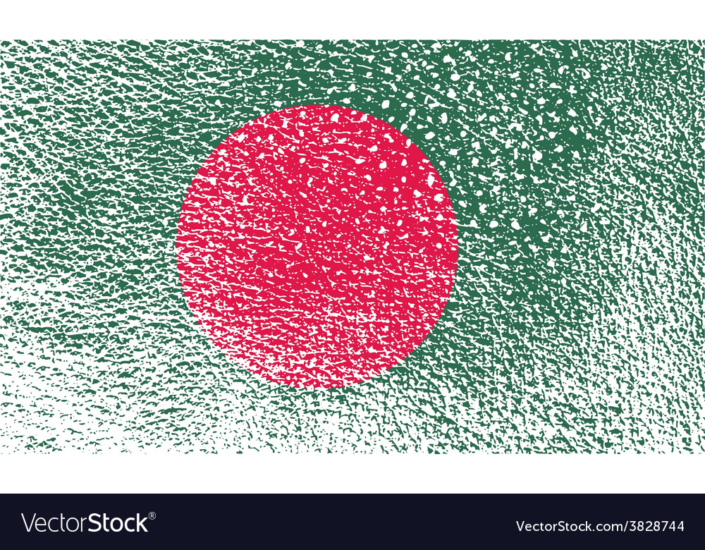 Flag of bangladesh with old texture vector | Price: 1 Credit (USD $1)