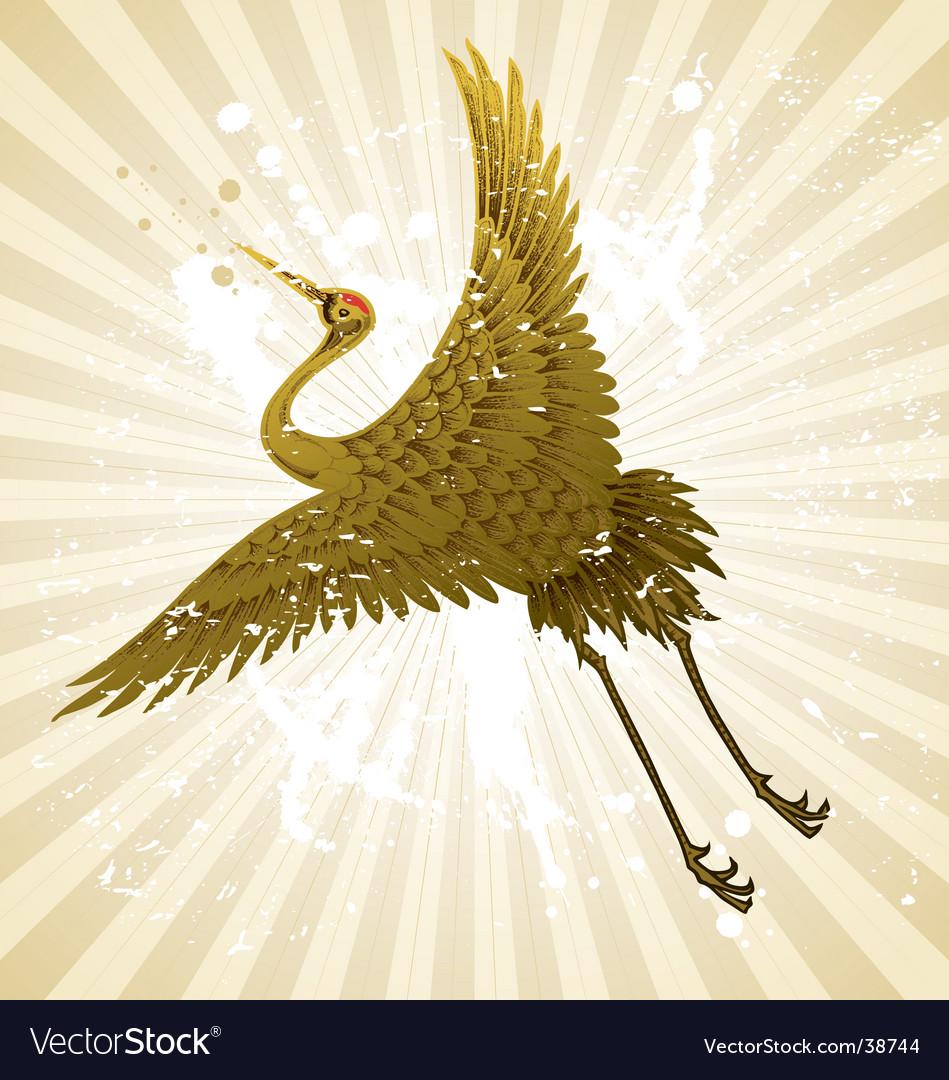 Flying sand hill crane bird vector | Price: 1 Credit (USD $1)