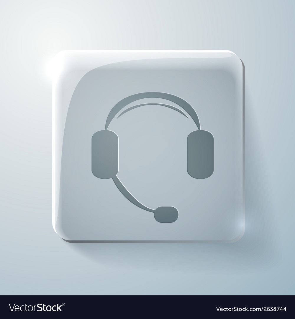 Glass square icon customer support vector | Price: 1 Credit (USD $1)