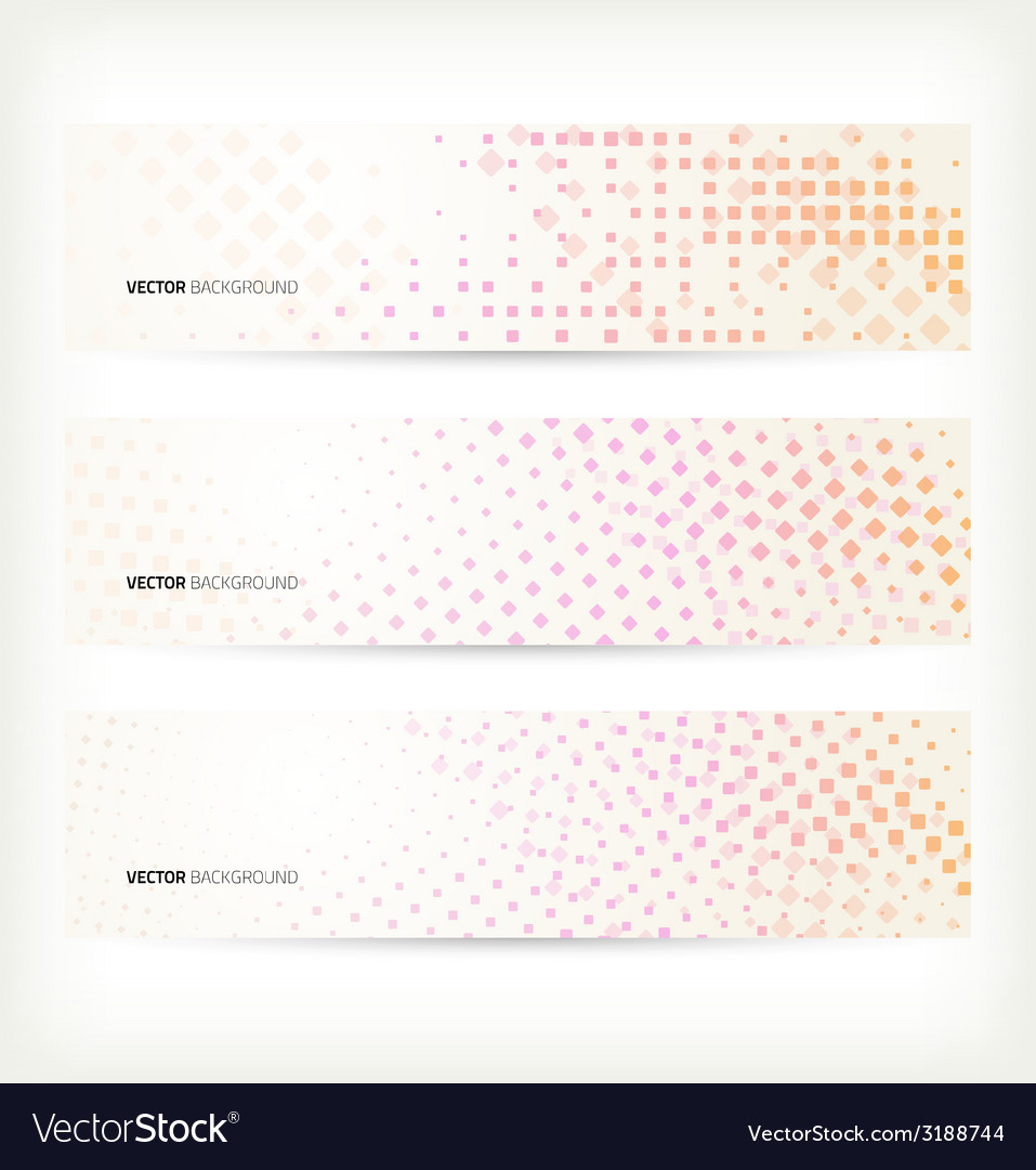 Halftone banner set vector | Price: 1 Credit (USD $1)