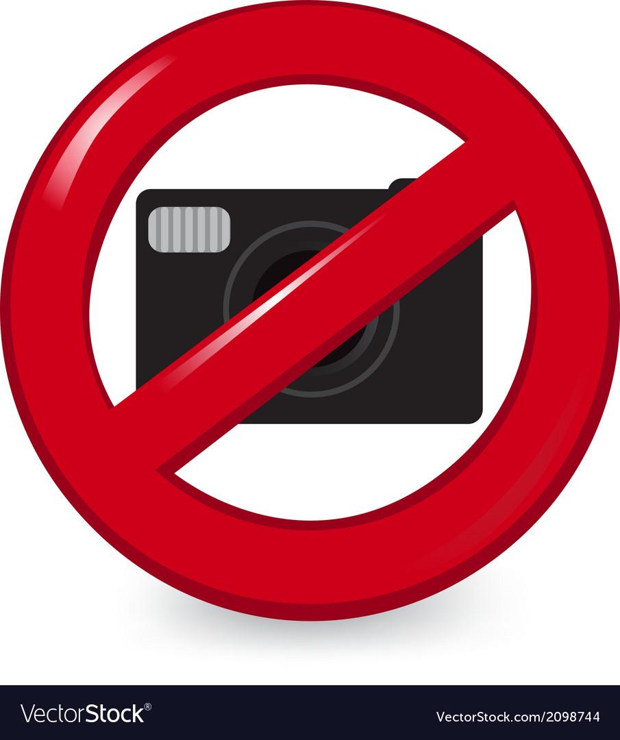 No cameras vector | Price: 1 Credit (USD $1)