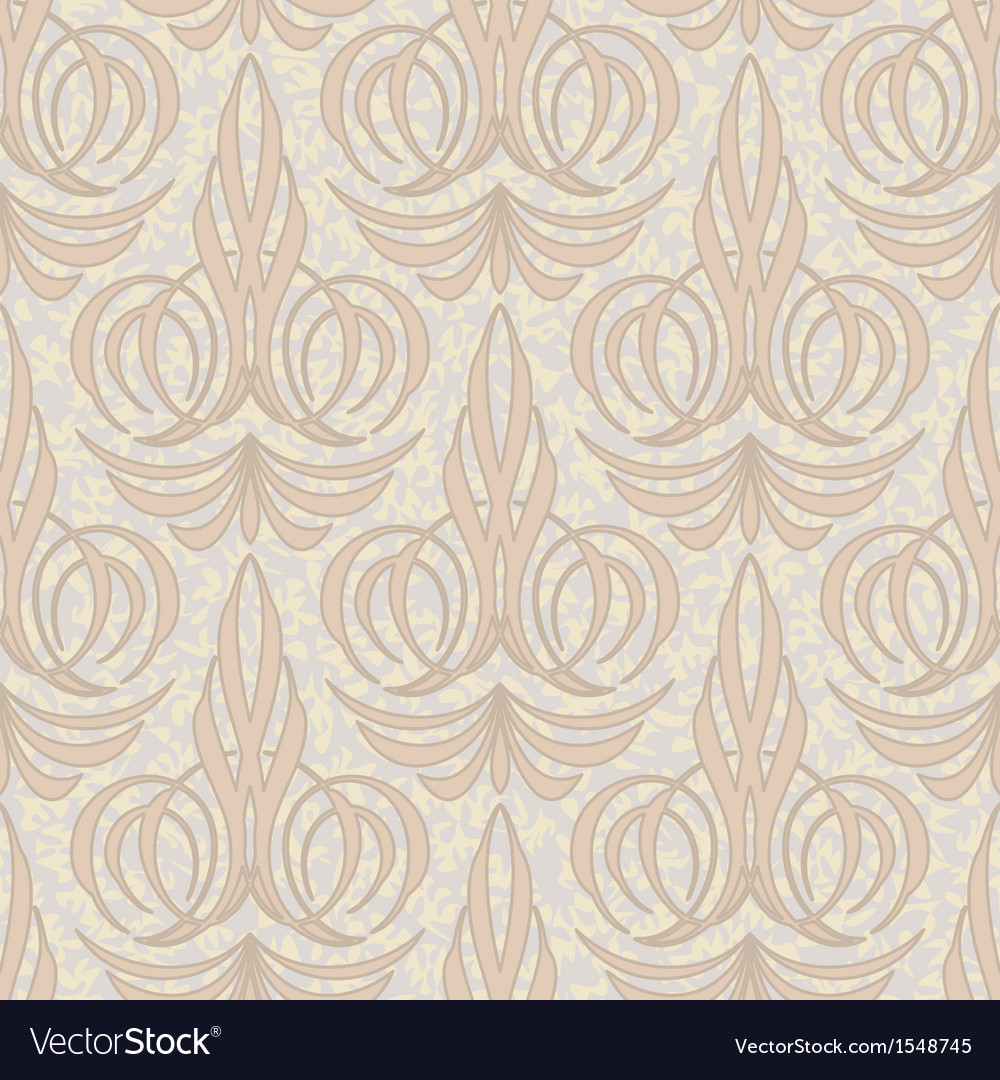 Abstract beige floral seamless background vector | Price: 1 Credit (USD $1)