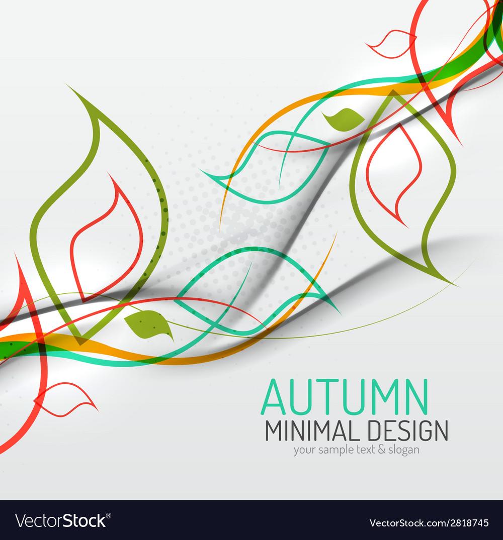 Autumn floral minimal background vector | Price: 1 Credit (USD $1)