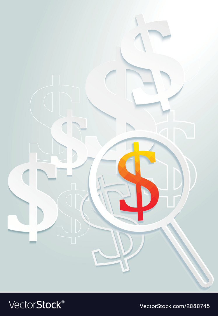 Dollar signs background vector | Price: 1 Credit (USD $1)