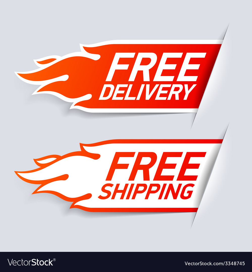 Free delivery and shipping labels vector | Price: 1 Credit (USD $1)