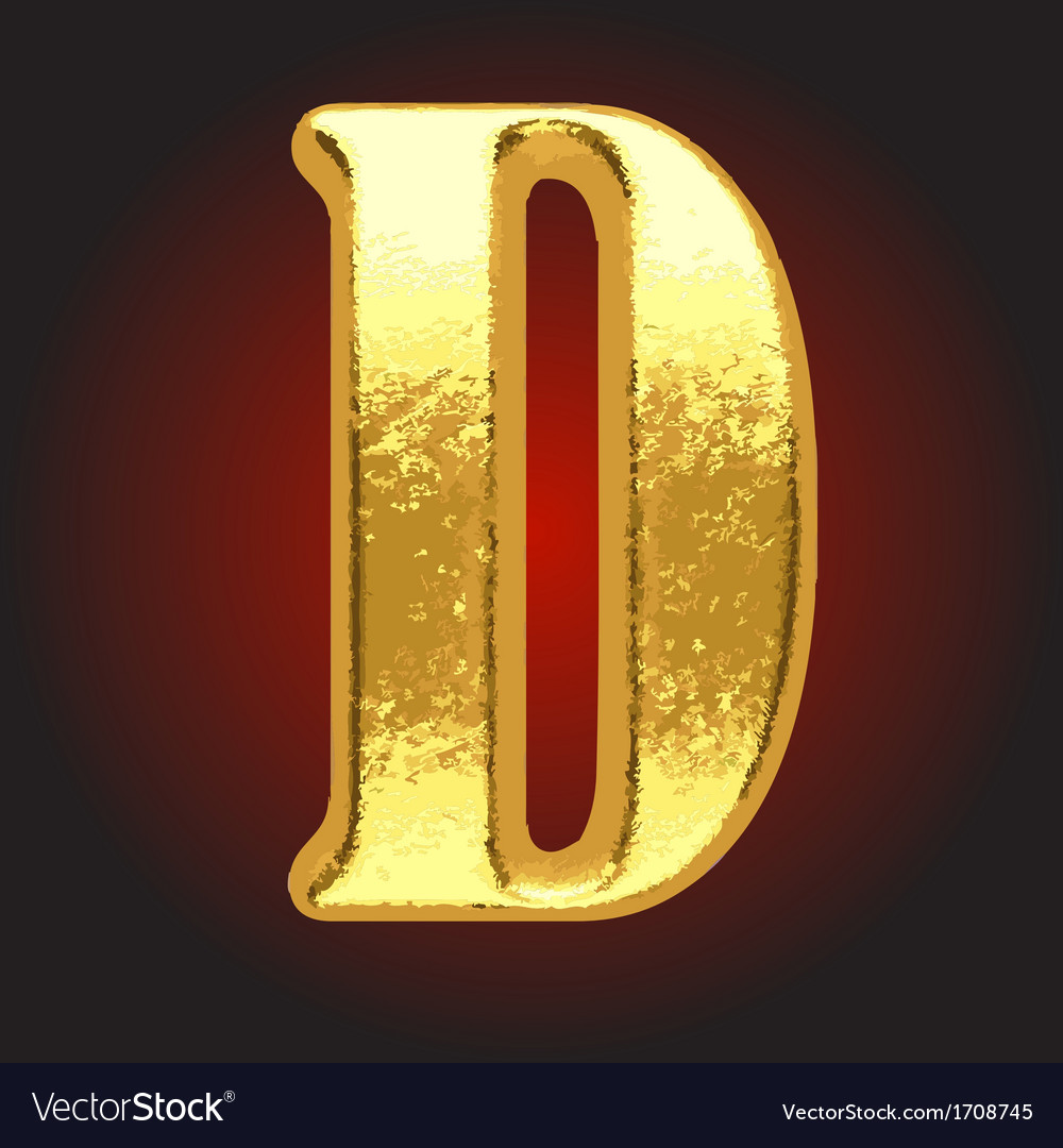 Golden letter on red vector   Price: 1 Credit (USD $1)