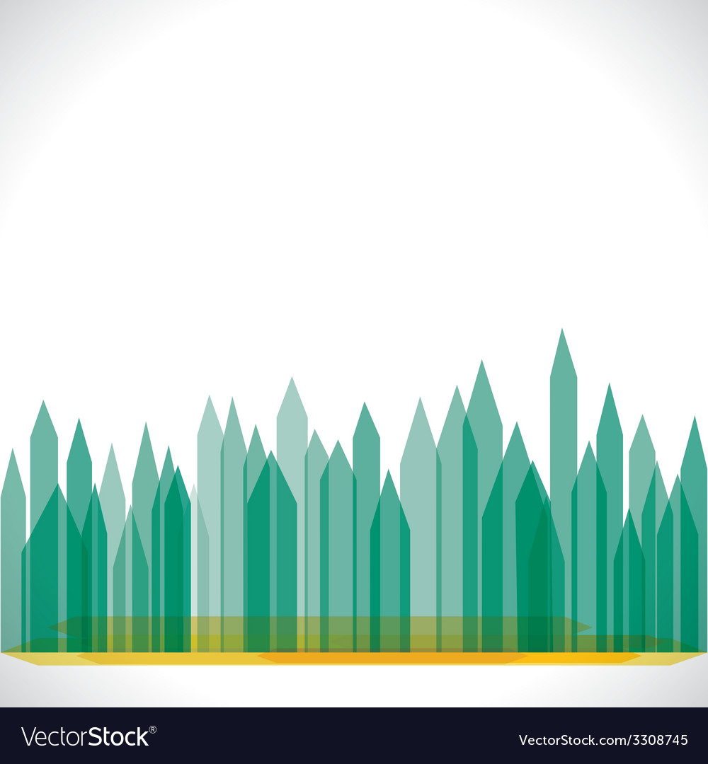 Green eco buliding city stock vector | Price: 1 Credit (USD $1)
