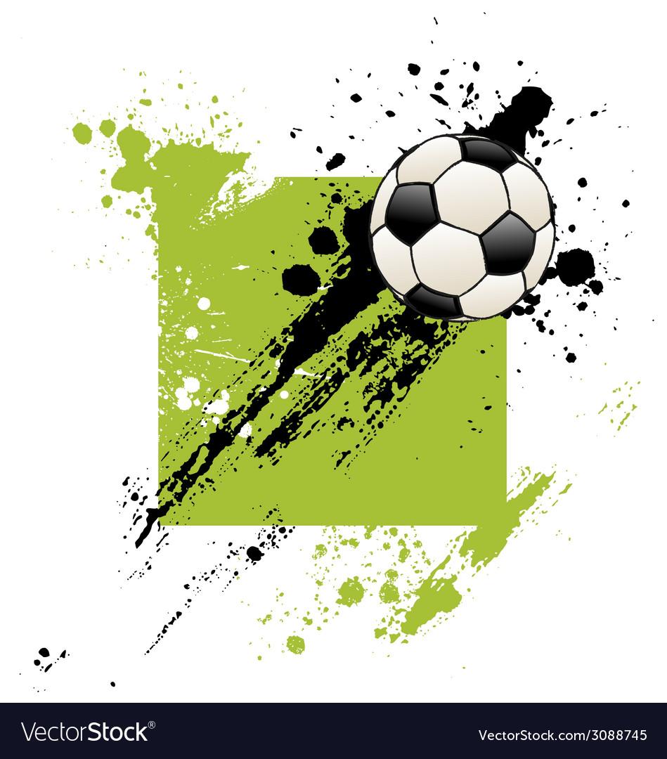 Grunge soccer ball vector | Price: 1 Credit (USD $1)