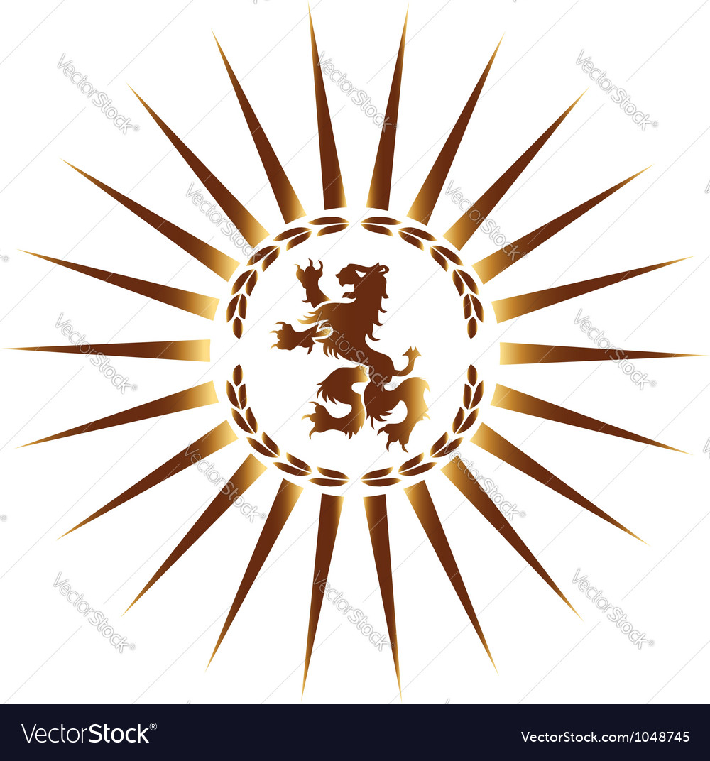 Heraldic lion vector | Price: 1 Credit (USD $1)