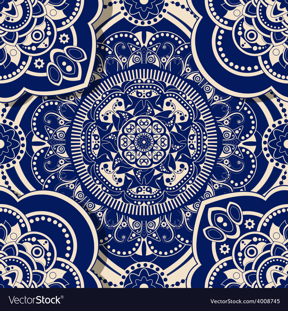 Ornamental seamless pattern with shadow effect vector   Price: 1 Credit (USD $1)