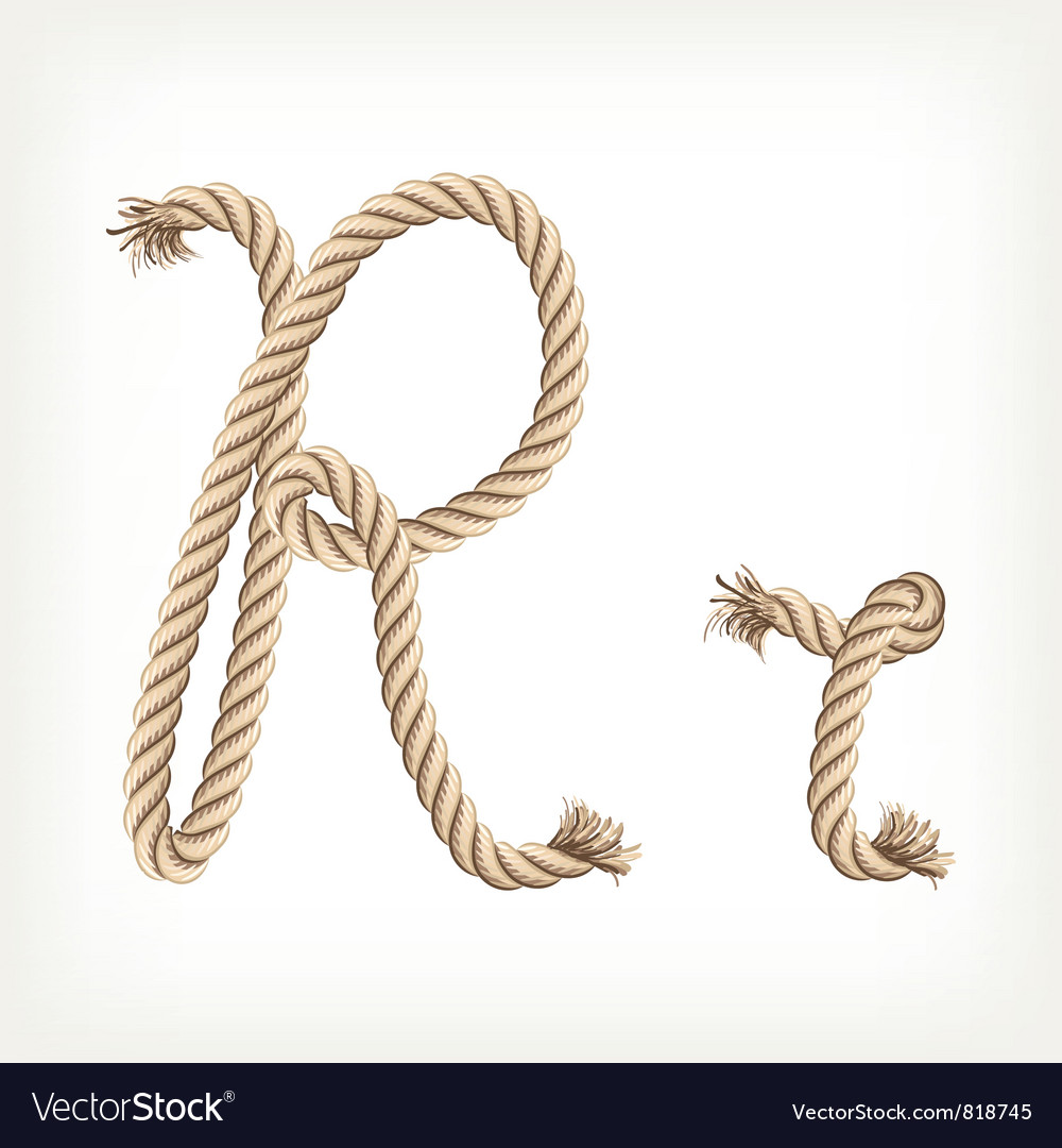Rope alphabet letter r vector | Price: 1 Credit (USD $1)