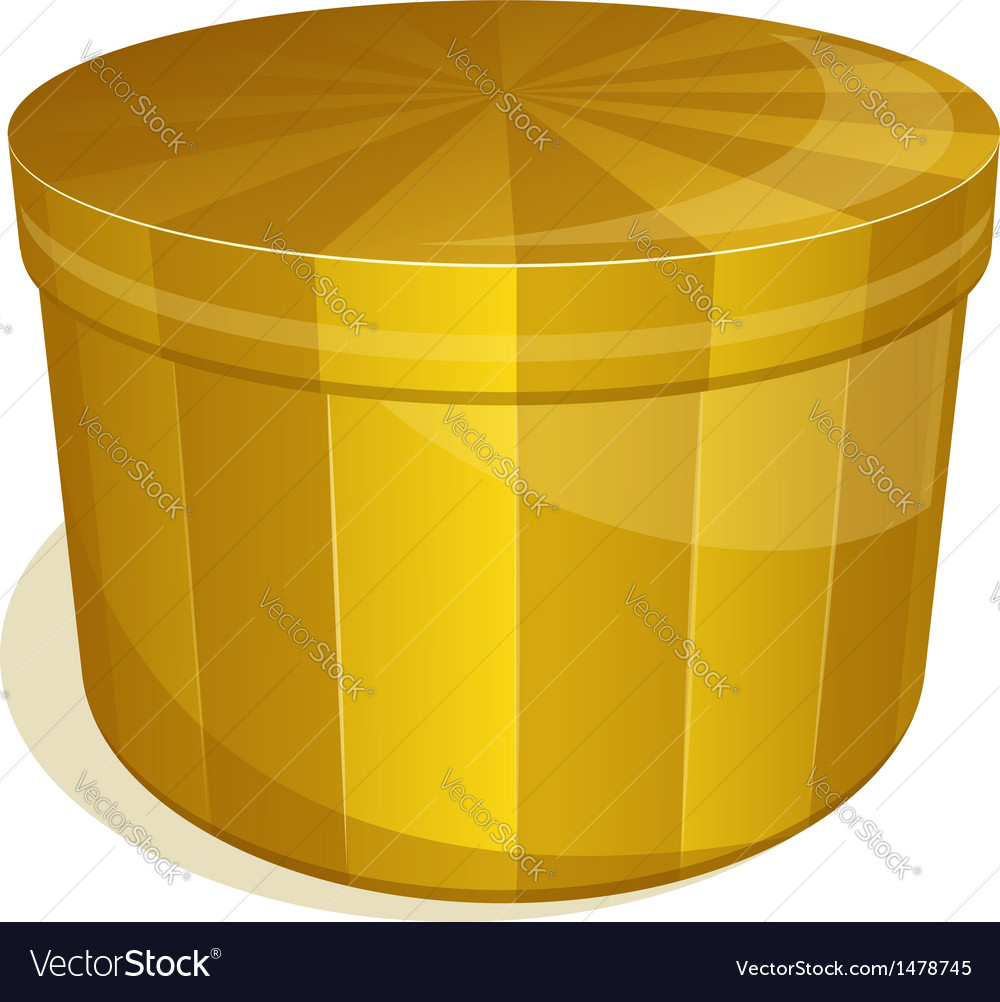 Yellow box with closed cover vector | Price: 1 Credit (USD $1)