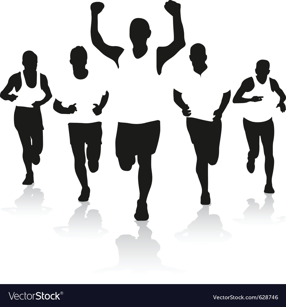 A group of runners vector | Price: 1 Credit (USD $1)
