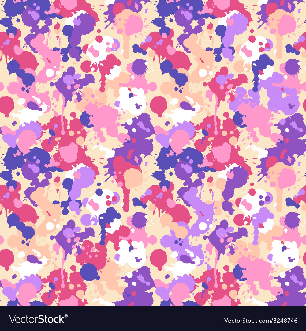 Abstract watercolor seamless pattern vector | Price: 1 Credit (USD $1)