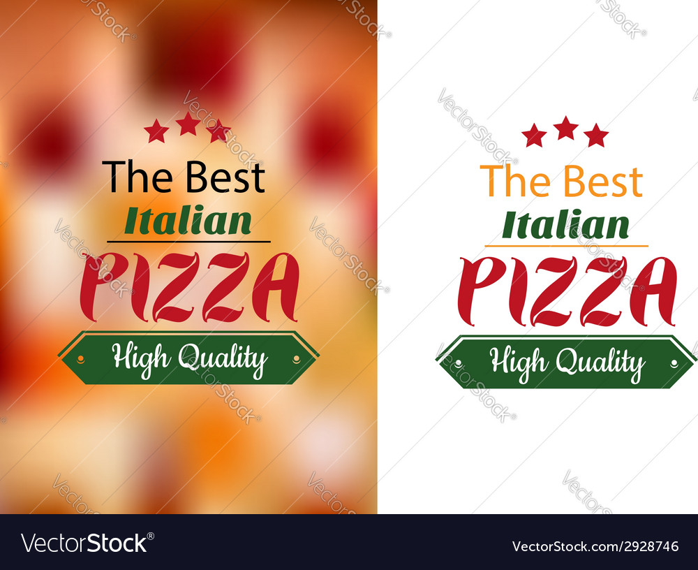 Best italian pizza poster vector | Price: 1 Credit (USD $1)