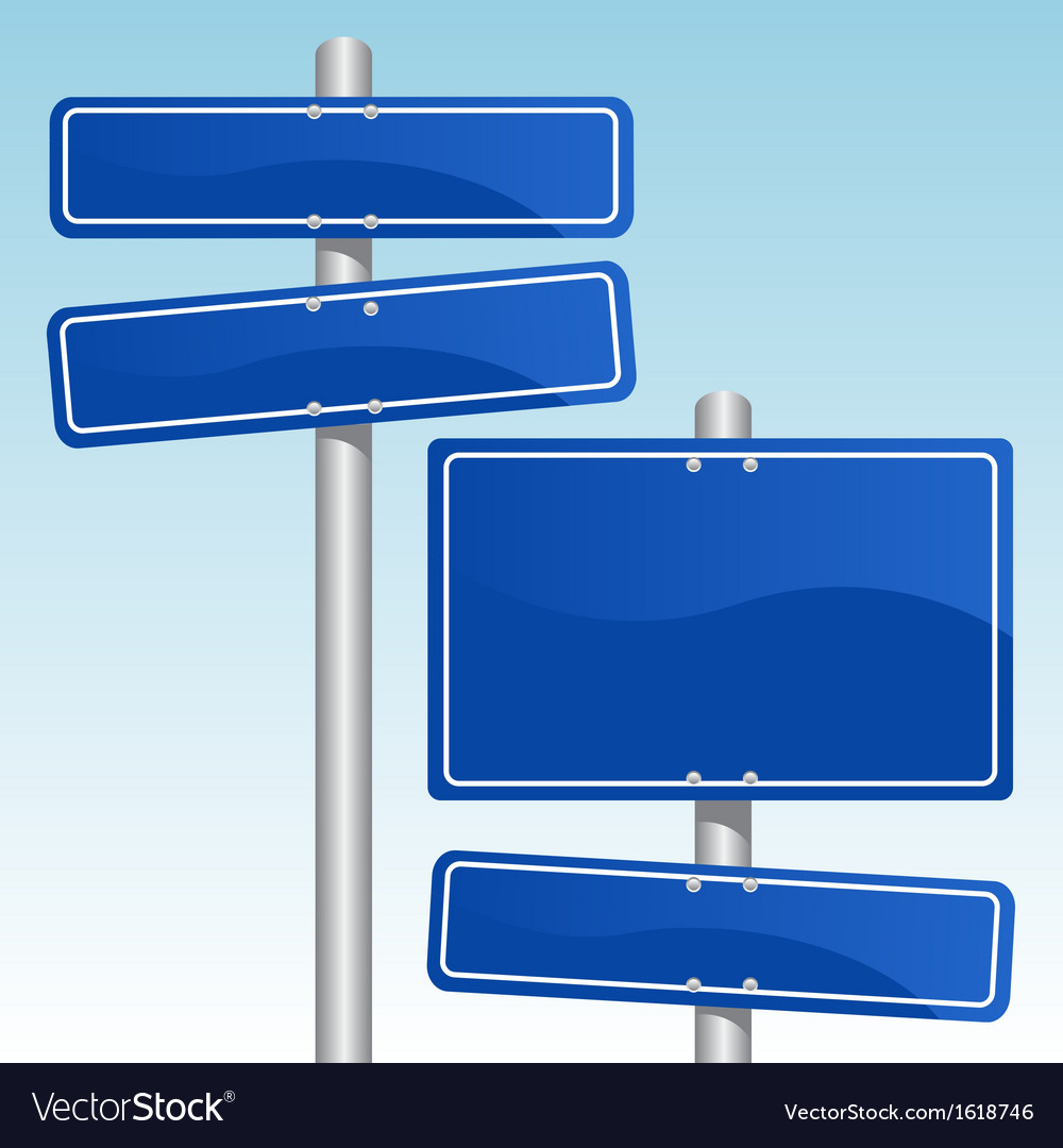 Direction signs vector | Price: 1 Credit (USD $1)